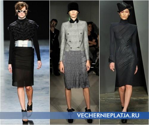 Осень 2011 модные платья осень-зима 20112012 мода